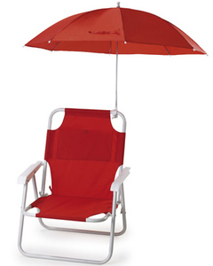 Factory Supply Canvas Folding Beach Chair with Umbrella