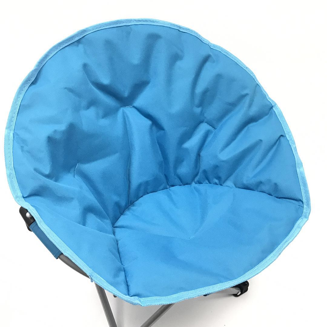 Saucer Chair Kids Seat Portable Character Comfortable Seating Saucer Shape Sturdy Metal Frame Polyester Cushioned Seat Playroom Easy Storage Bedroom