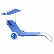 Elderly Beach Chair with Wheels And Sun Canopy