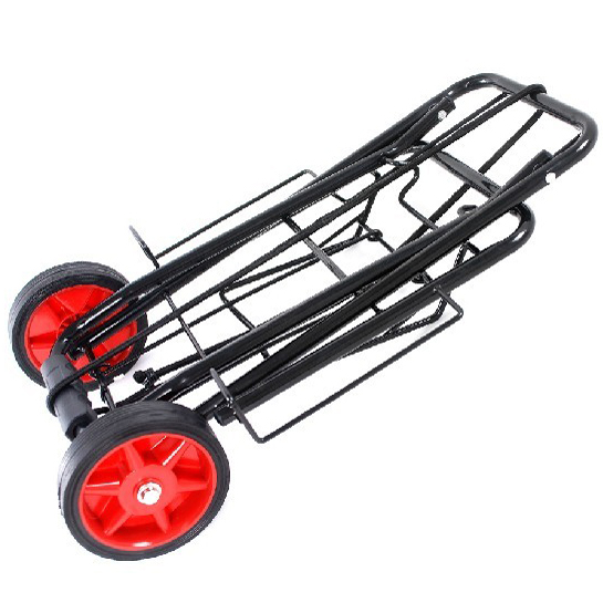 Folding Shopping Cart Lightweight Utility Grocery Shopping Trolley Dolly with Wheels