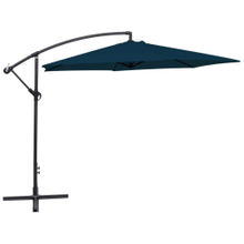 10 FT Hanging Umbrella Cantilever Umbrella Offset Patio Umbrella Outdoor Market Umbrella Easy Open Lift 360 Degree Rotation